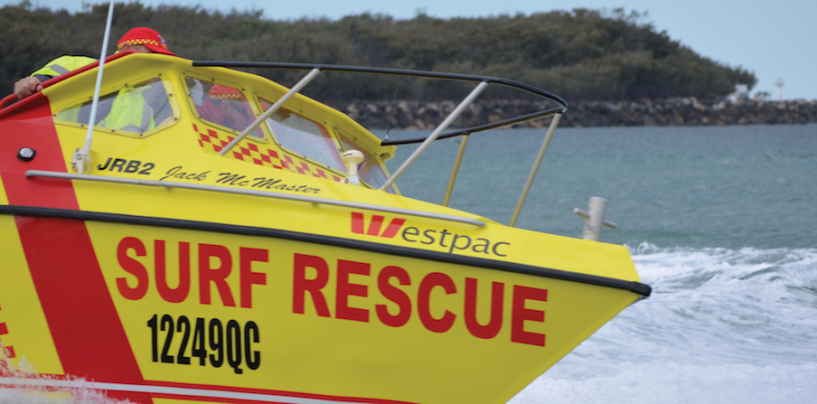 The boats of the surf lifesavers