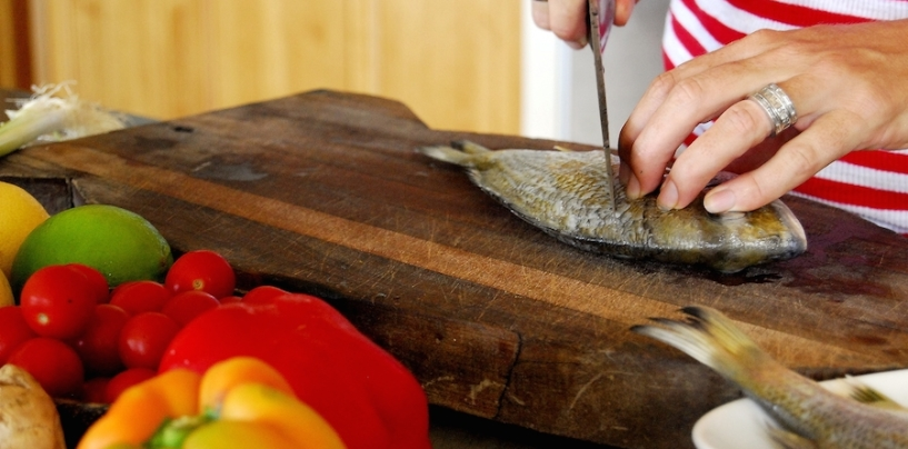 Thai Steamed Bream with Herb Salad: Sally Jenyns
