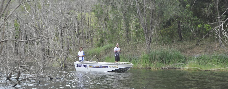 Tranquil Bass Fishing at Hinze Dam