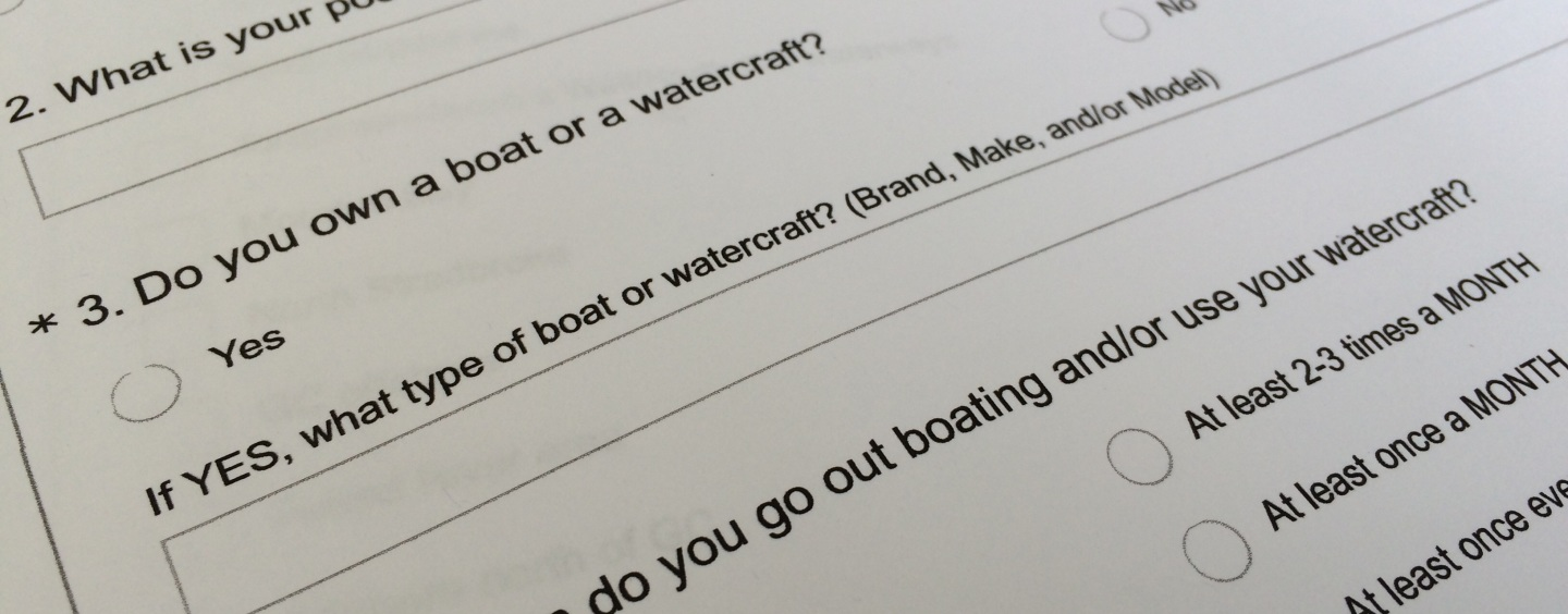 TAKE OUR BOATING SURVEY!