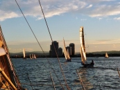 Social Sailing at Twilight