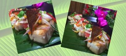 Thai Smoked Fish Salad and Fish Skin Crackling