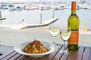Meal with a view - lunch at the Moreton Bay Trailer Boat Club. Cr MBTBC