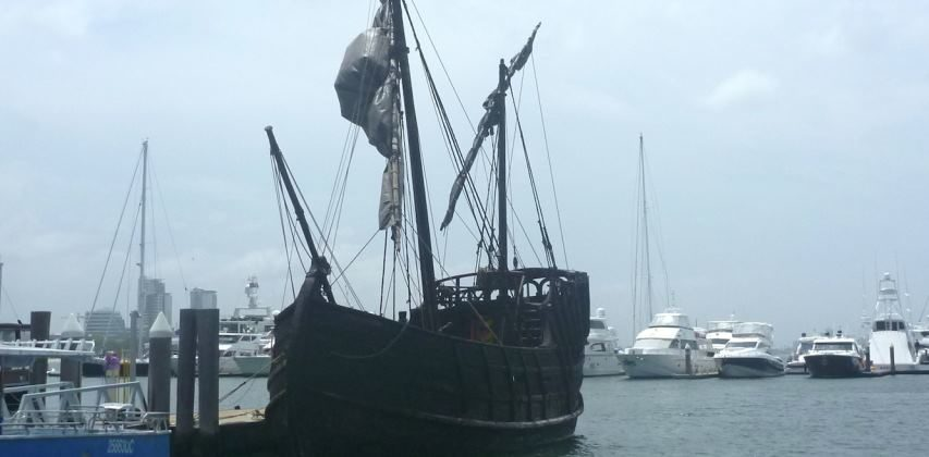 PIRATE SHIP ALERT AT MARINA MIRAGE