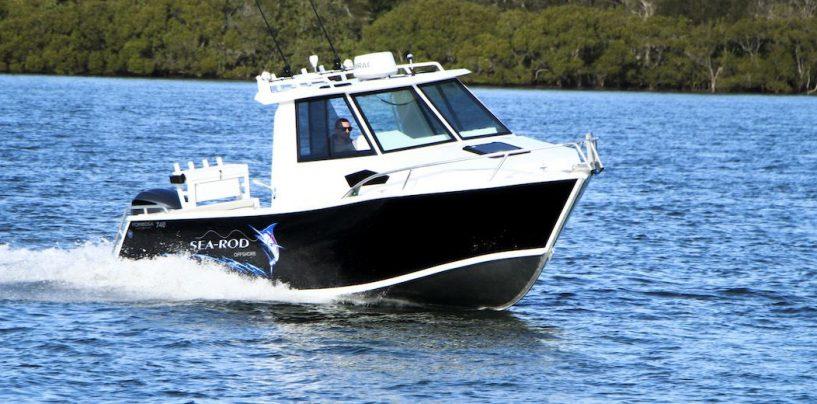 New Sea-Rod Aluminium-Plated Boat