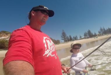 Fishing Moreton Island