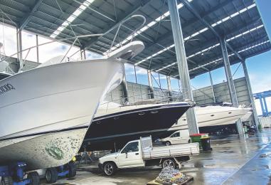 Gold Coast City Marina: New Sheds and Busy Yard